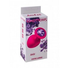 Анальная пробка Emotions Cutie Large Pink dark purple crystal 4013-02Lola