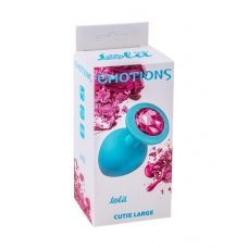 Анальная пробка Emotions Cutie Large Turquoise pink crystal 4013-03Lola