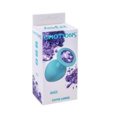 Анальная пробка Emotions Cutie Large Turquoise light purple crystal 4013-04Lola